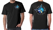 Black t-shirt with full color logo