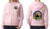 Ladies full zip sweatshirt Pickles design