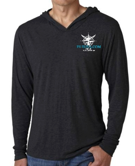 Black t-shirt with boat logo