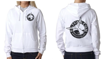 Ladies full zip sweatshirt