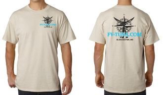 Two Colors Compass Rose Tuna T-Shirts